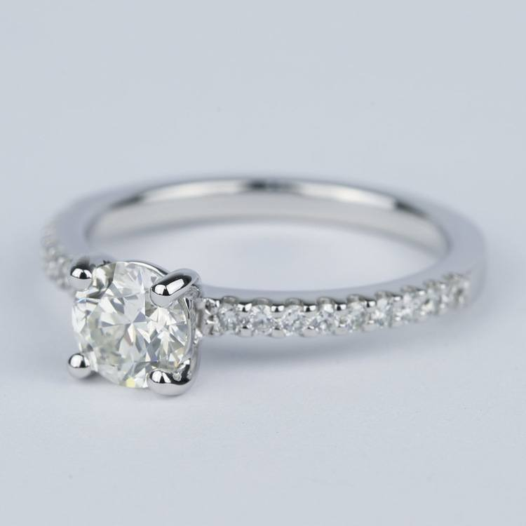 Scallop Round Cut Diamond Engagement Ring (3/4 Carat) angle 2