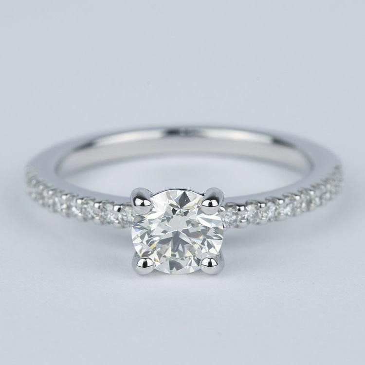Scallop Round Cut Diamond Engagement Ring (3/4 Carat)