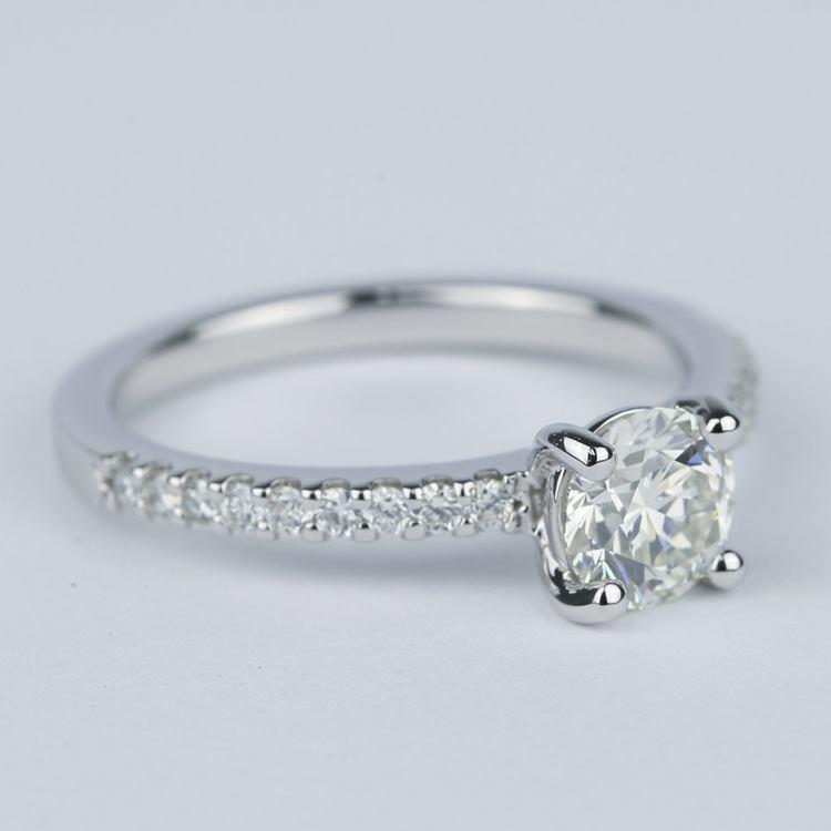 Scallop Round Cut Diamond Engagement Ring (3/4 Carat) angle 3