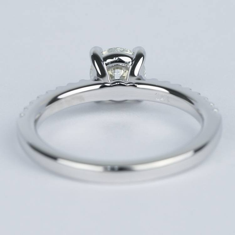 Round Diamond Engagement Ring with Scallop Pave angle 4