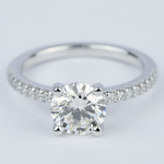 1.57 Carat Round Diamond Scallop Engagement Ring - small