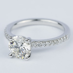 1.57 Carat Round Diamond Scallop Engagement Ring - small angle 2
