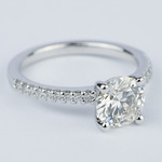 1.57 Carat Round Diamond Scallop Engagement Ring - small angle 3