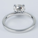 1.57 Carat Round Diamond Scallop Engagement Ring - small angle 4