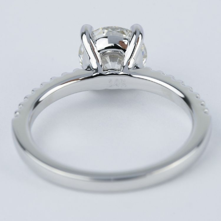 1.57 Carat Round Diamond Scallop Engagement Ring angle 4