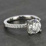 E Color Diamond Scallop Engagement Ring (1.80 ct.) - small angle 3