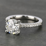E Color Diamond Scallop Engagement Ring (1.80 ct.) - small angle 2