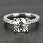 E Color Diamond Scallop Engagement Ring (1.80 ct.) - small