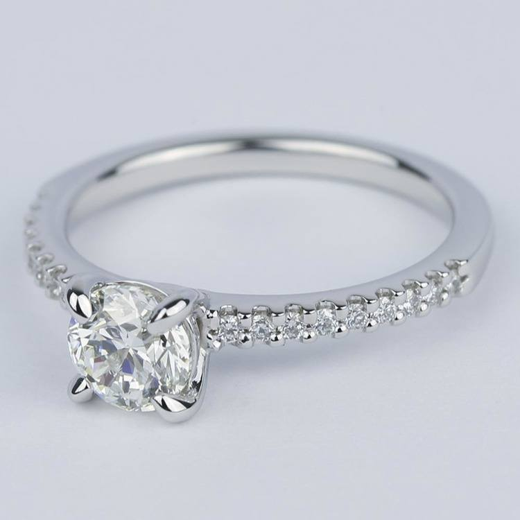 Scallop Diamond Engagement Ring with Claw Prongs (0.90 ct.) angle 2