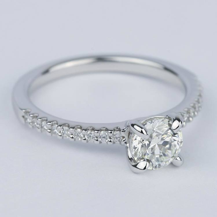 Scallop Diamond Engagement Ring with Claw Prongs (0.90 ct.) angle 3