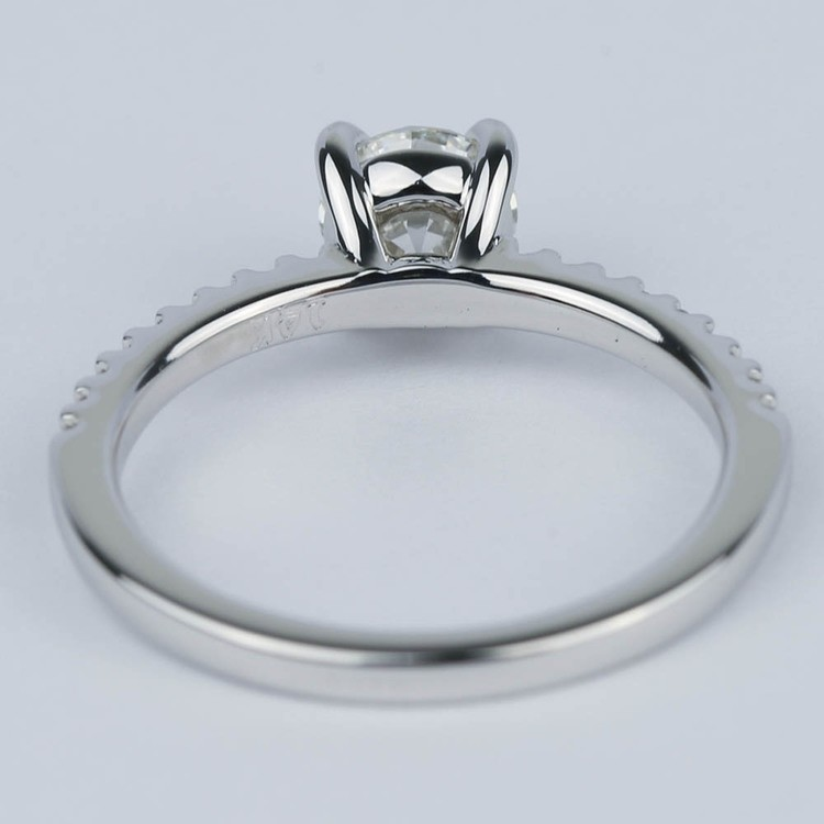 Scallop Diamond Engagement Ring with Claw Prongs (0.90 ct.) angle 4