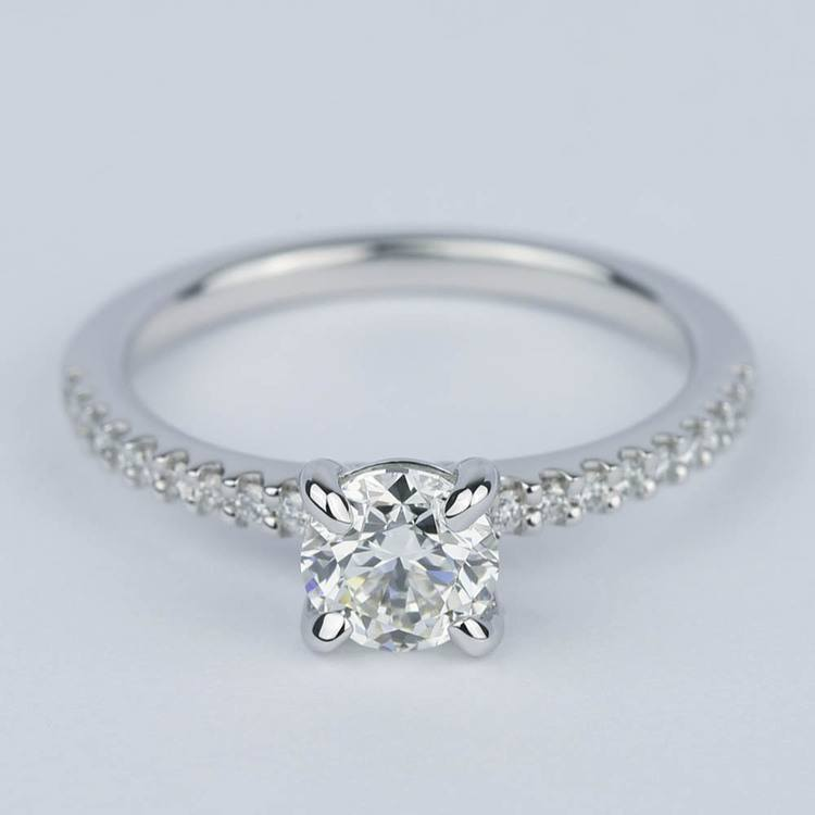 Scallop Diamond Engagement Ring with Claw Prongs (0.90 ct.)