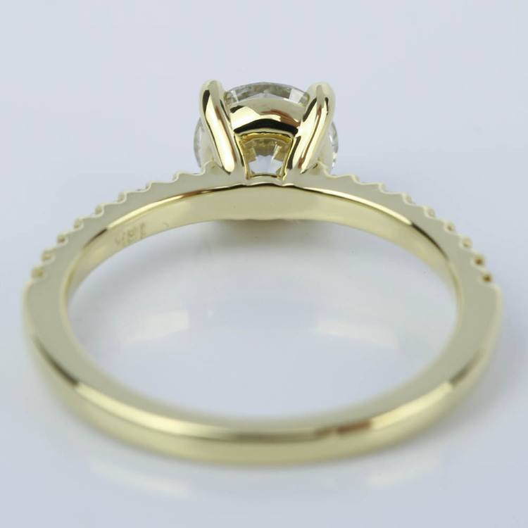 Scallop Diamond Engagement Ring in Yellow Gold (1.14 ct.) angle 4