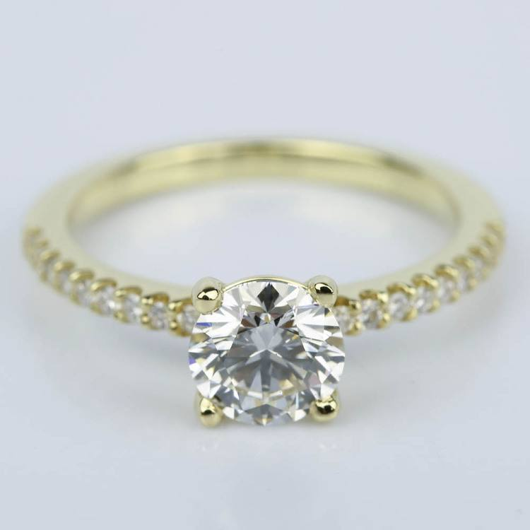 Scallop Diamond Engagement Ring in Yellow Gold (1.14 ct.)