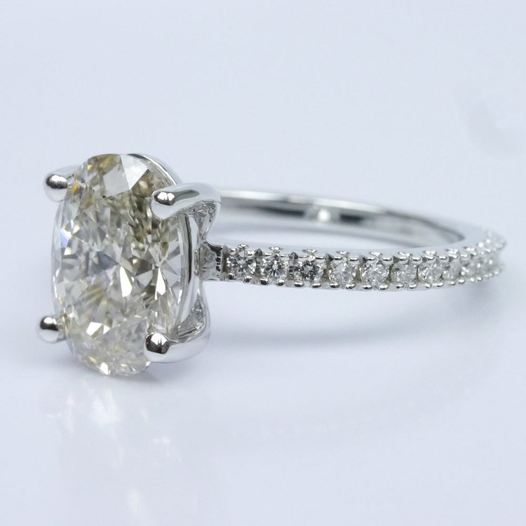 Scallop Diamond Engagement Ring angle 2