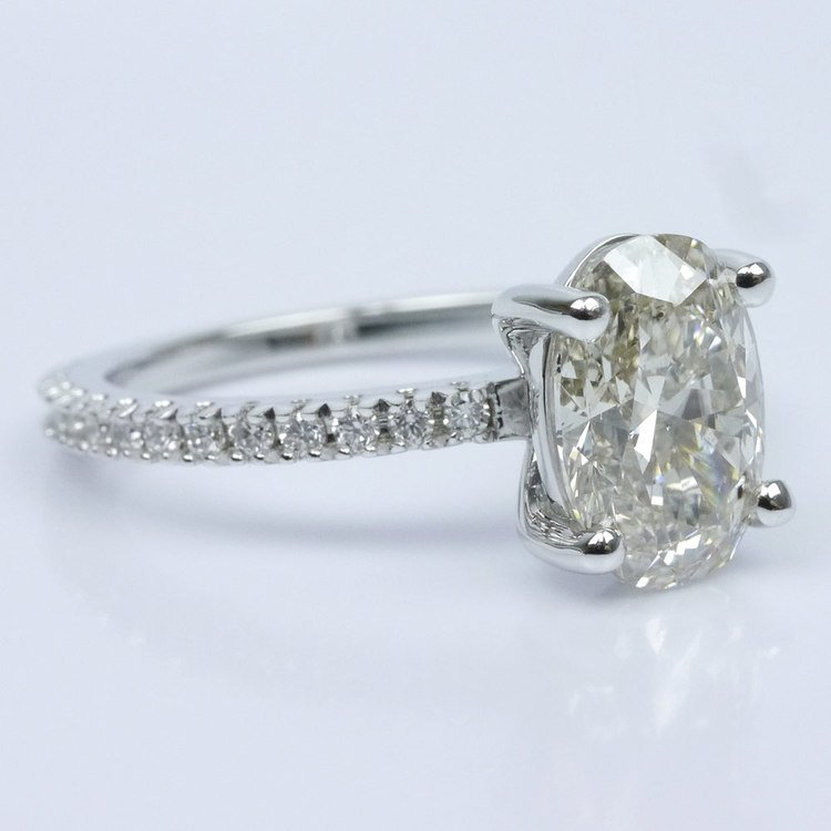 Scallop Diamond Engagement Ring angle 3