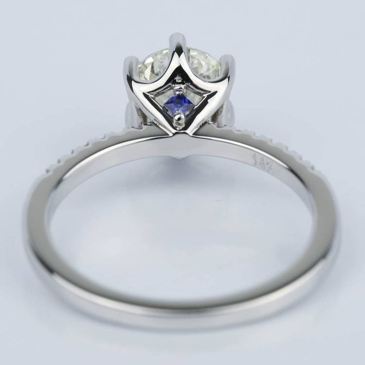 Scallop Diamond and Sapphire Engagement Ring (1.11 ct.) angle 4