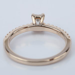 Scallop Emerald Diamond Engagement Ring in Rose Gold (.49 ct.) - small angle 4