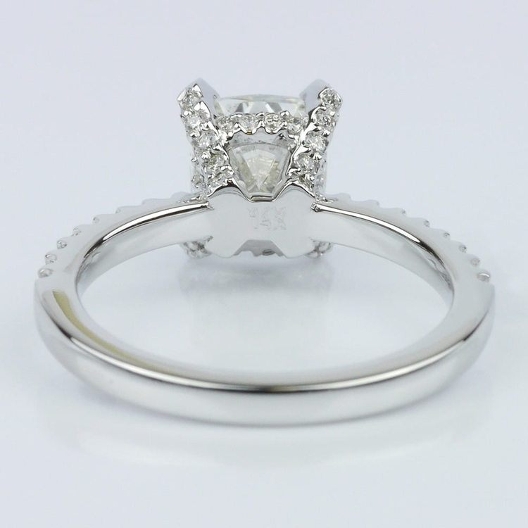 Scallop Engagement Ring with a Cushion Diamond (1.70 ct.) angle 4