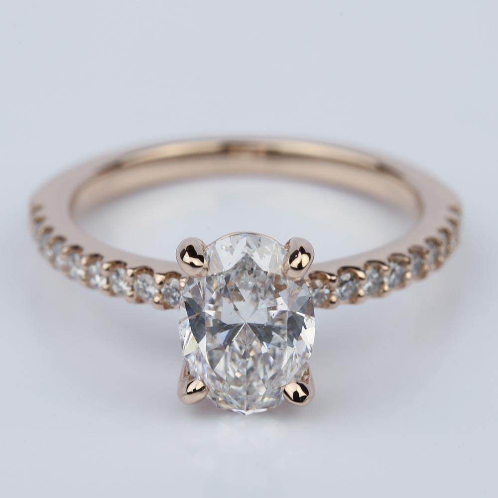 rose gold oval wedding rings wwwimgkidcom the image