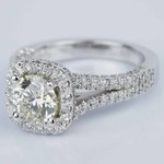 Scallop Three-Sided Halo Diamond Engagement Ring (0.85 ct.) - small angle 2
