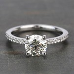 Scalloped 1.5 Carat Round Diamond Engagement Ring - small