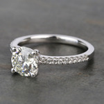 Scalloped 1.5 Carat Round Diamond Engagement Ring - small angle 2