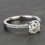 Scalloped 1.5 Carat Round Diamond Engagement Ring - small angle 3