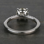 Scalloped 1.5 Carat Round Diamond Engagement Ring - small angle 4