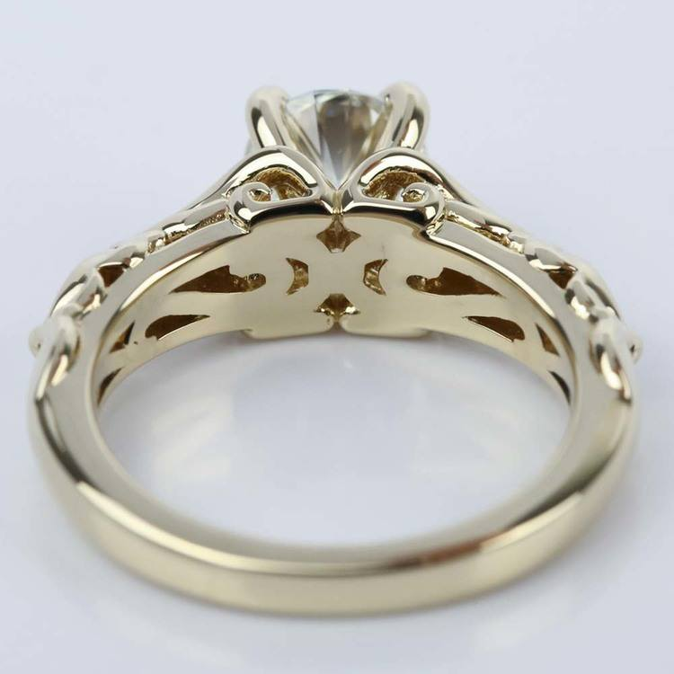 Sculpted Garland Diamond Engagement Ring in Yellow Gold (1.40 ct.) angle 4