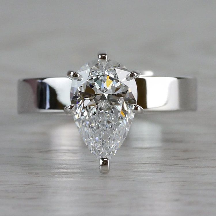 Seamless & Classic Solitaire Pear Shaped Engagement Ring