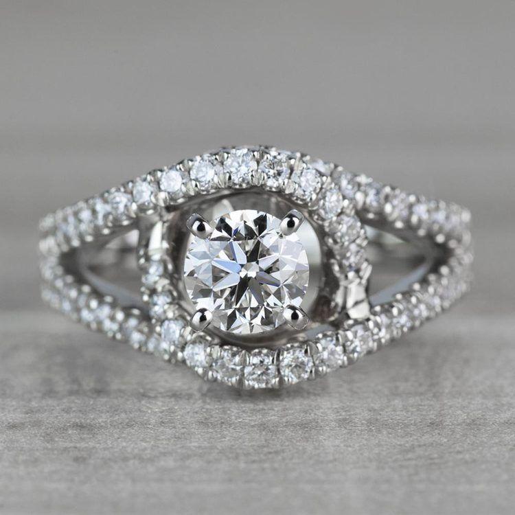 Sensational Split Shank Diamond Wrap Engagement Ring