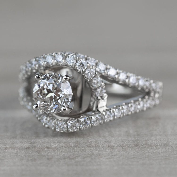 Sensational Split Shank Diamond Wrap Engagement Ring angle 2