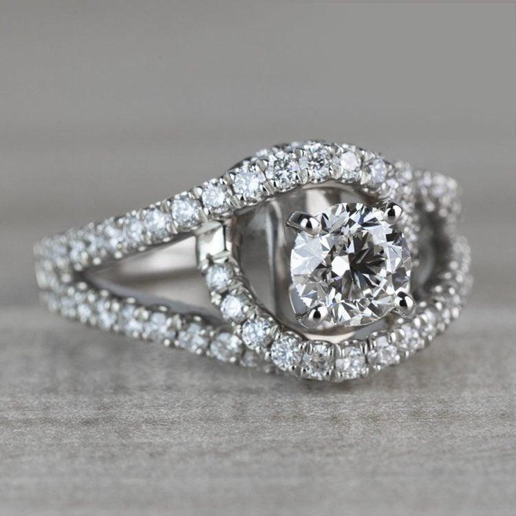 Sensational Split Shank Diamond Wrap Engagement Ring angle 3