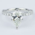 1.92 Carat Pear Diamond Shared Prong Engagement Ring - small