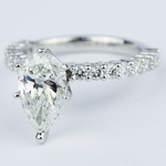 1.92 Carat Pear Diamond Shared Prong Engagement Ring - small angle 2