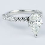 1.92 Carat Pear Diamond Shared Prong Engagement Ring - small angle 3