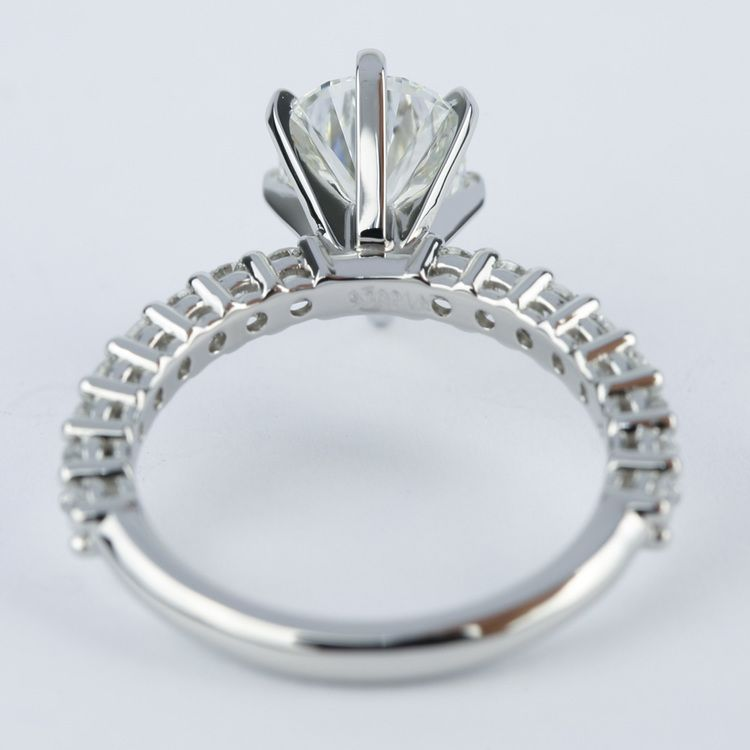 1.92 Carat Pear Diamond Shared Prong Engagement Ring angle 4