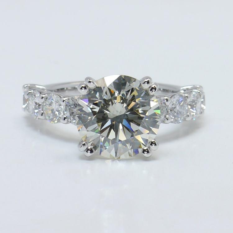 4.36 Carat Custom Round Diamond Engagement Ring