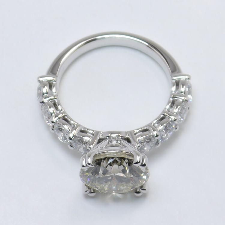 4.36 Carat Custom Round Diamond Engagement Ring angle 4