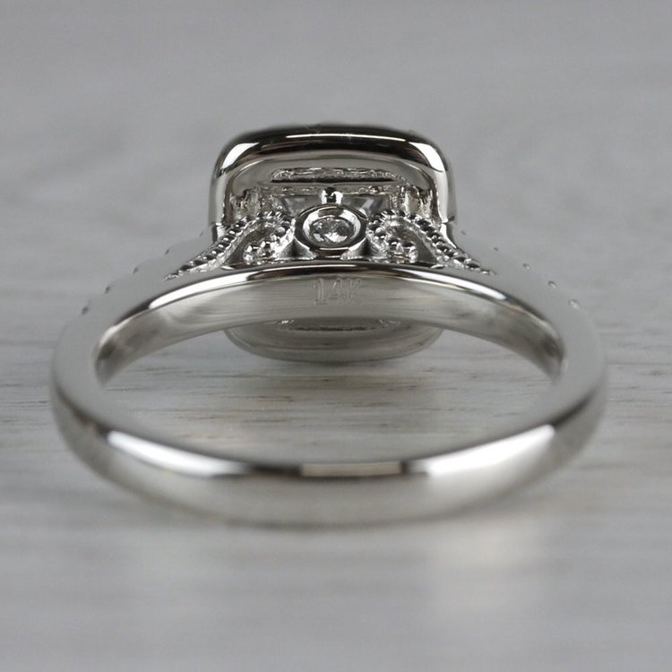 Shining Princess Cut Diamond Halo Ring angle 4