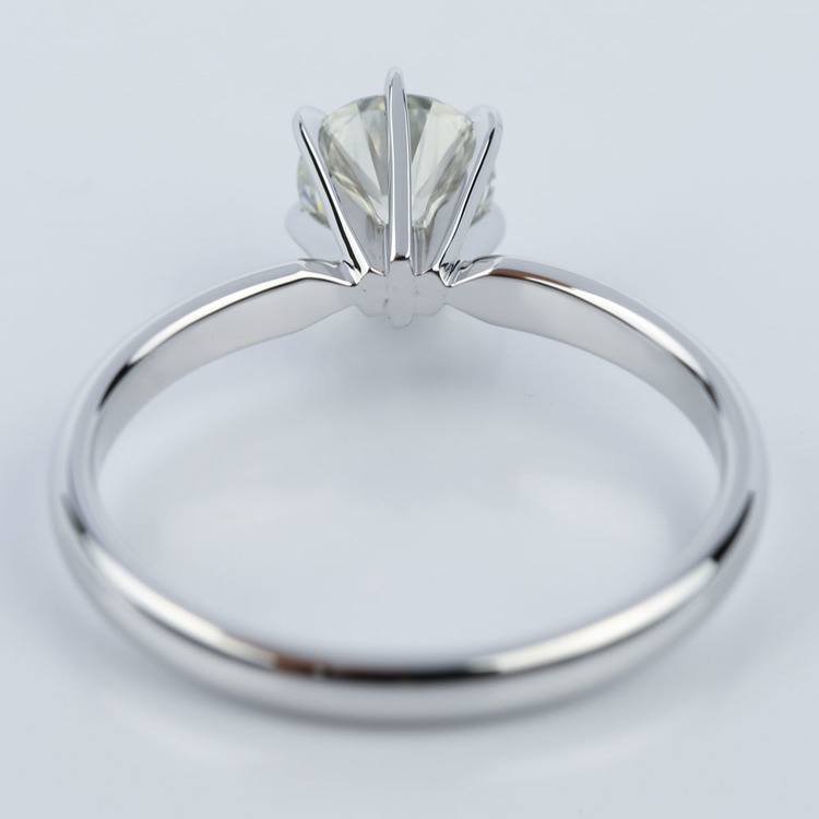 Six-Prong 1.01 Carat Round White Gold Solitaire Engagement Ring angle 4
