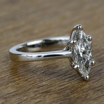 Six-Prong 1.02 Carat Marquise Loose Diamond Engagement Ring - small angle 3