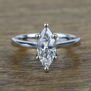 Six-Prong 1.02 Carat Marquise Loose Diamond Engagement Ring