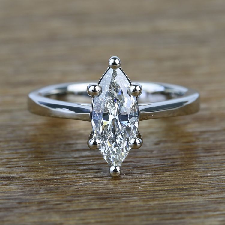 Six-Prong 1.02 Carat Marquise Loose Diamond Engagement Ring