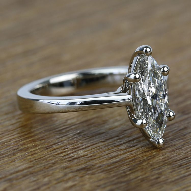 Six-Prong 1.02 Carat Marquise Loose Diamond Engagement Ring angle 3