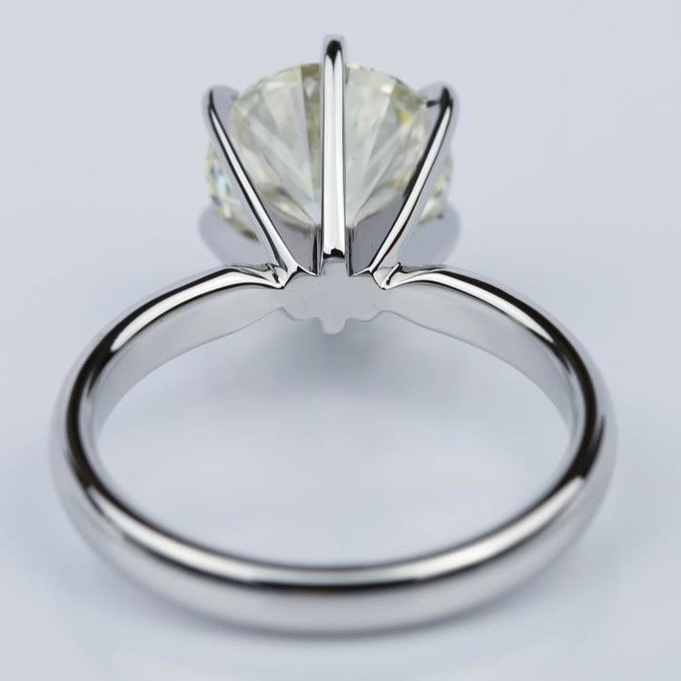 Six-Prong 2.15 Carat Round Solitaire Engagement Ring  angle 4