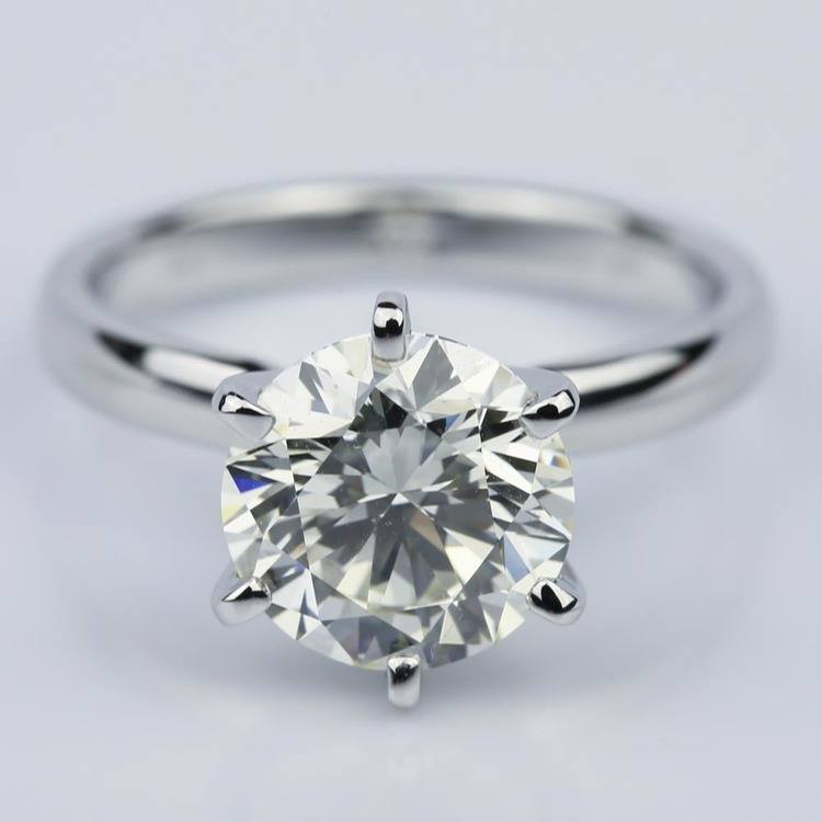 Six-Prong 2.15 Carat Round Solitaire Engagement Ring