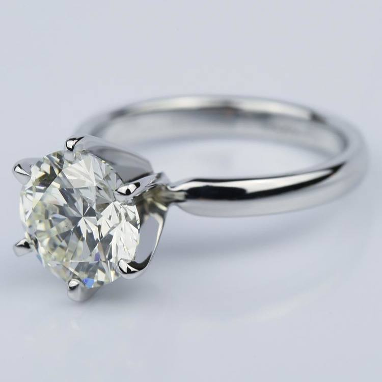 Six-Prong 2.15 Carat Round Solitaire Engagement Ring  angle 2