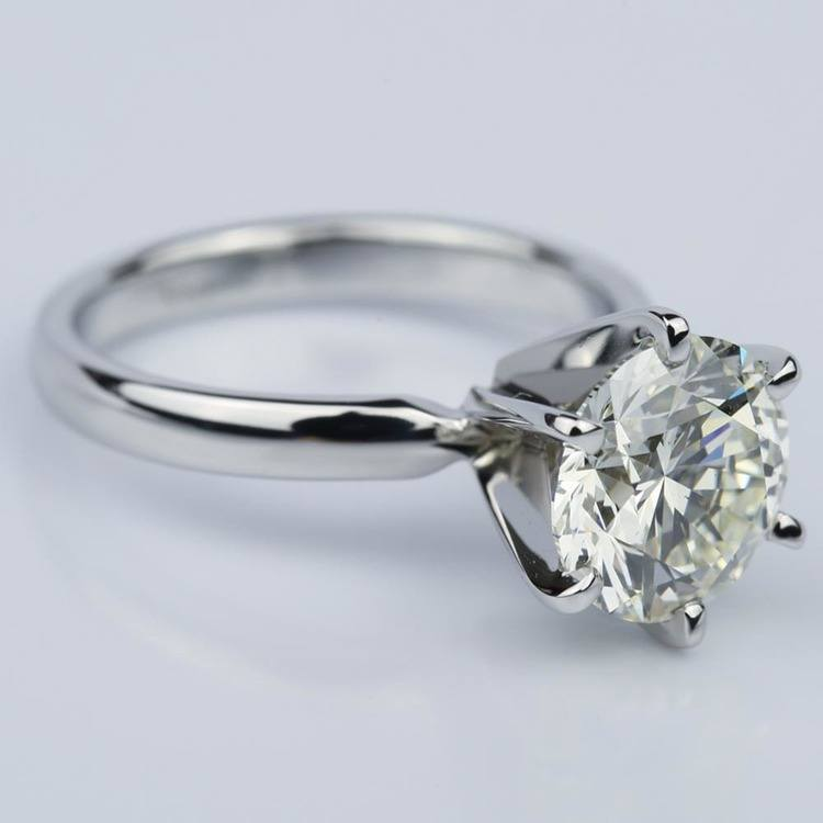 Six-Prong 2.15 Carat Round Solitaire Engagement Ring  angle 3